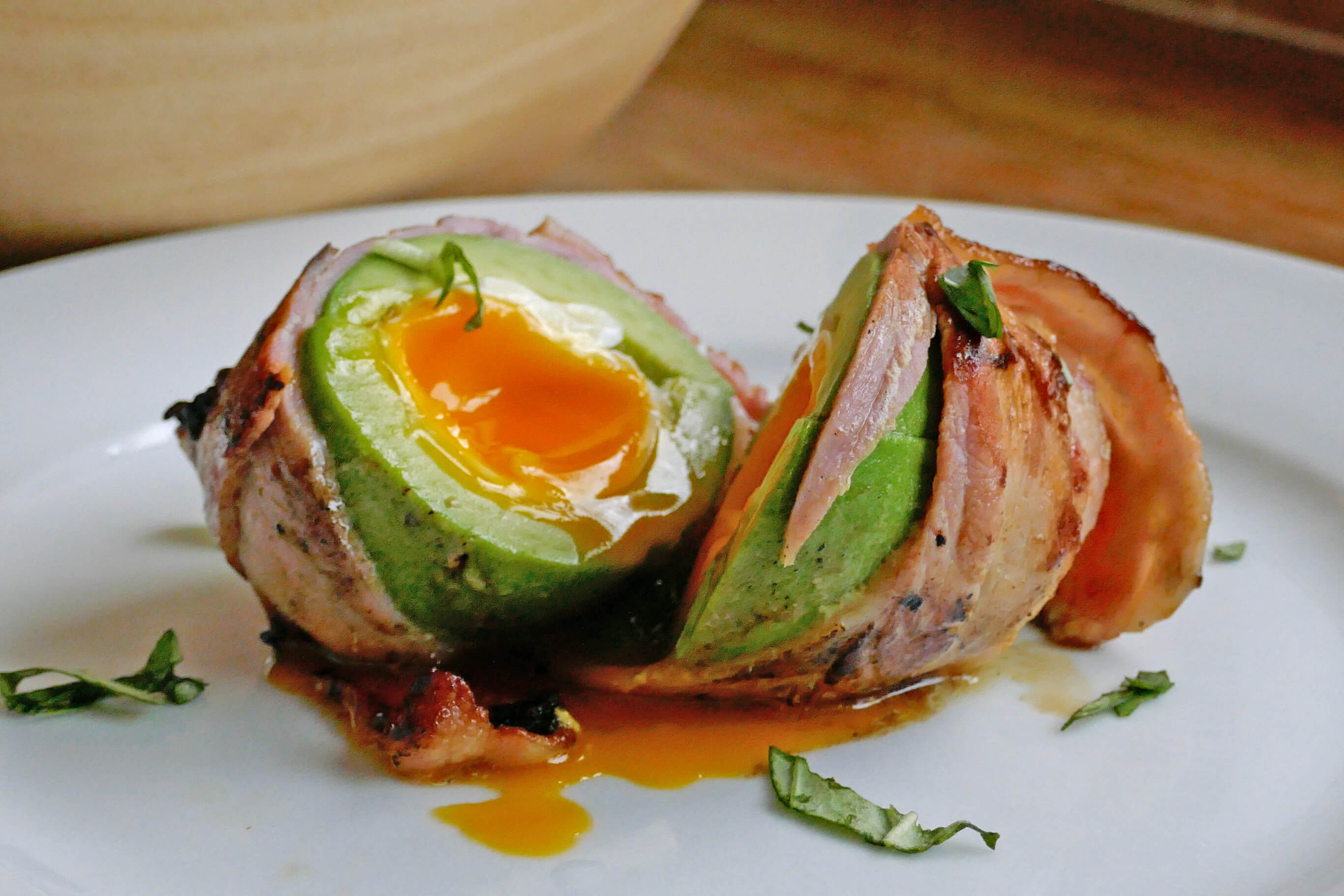 ZEST24 bootcamp bacon avocado wrapped poached egg
